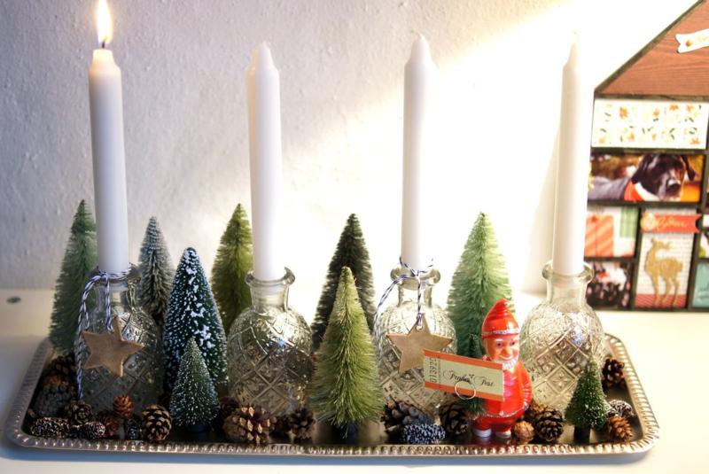 Adventsleuchter mit Bäumchen