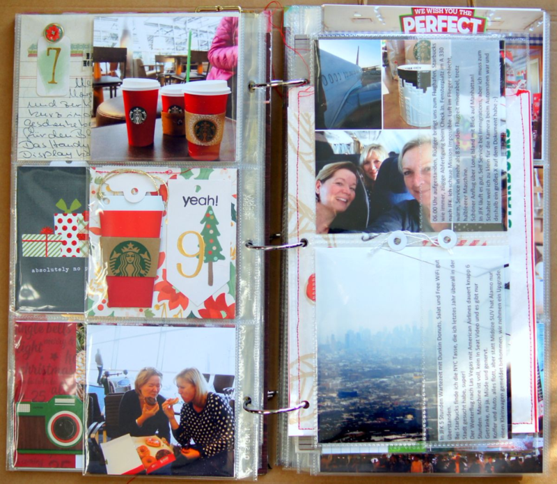 "Starbucks im December Daily 2015 Dezembertagebuch 6x12"""