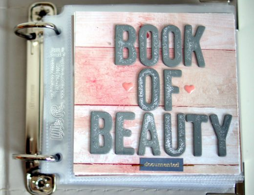 Book of Beauty Scrapbook über kosmetische Pflegeprodukte