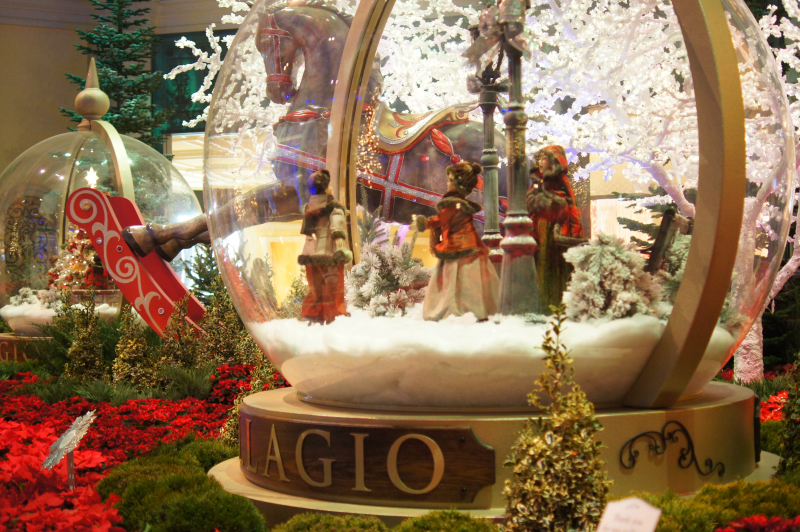 Bellagio Hotel Weihnachten in Las Vegas