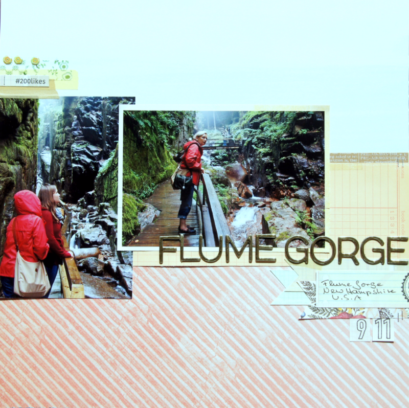 Scrapbooking Layout Flume Gorge Barbara Haane