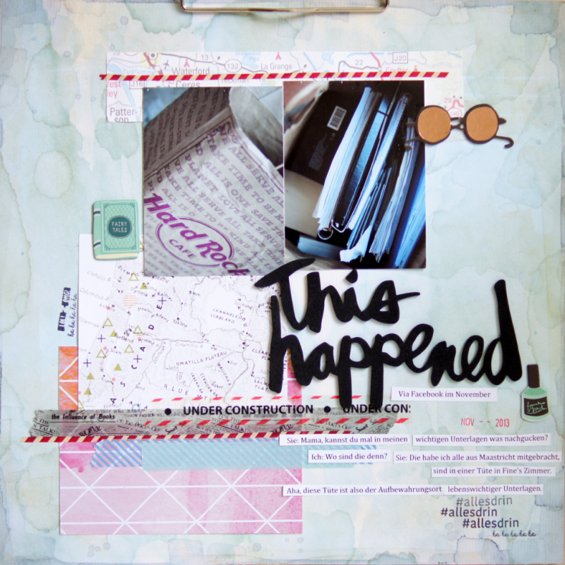Facebook conversation scrapbooking layout