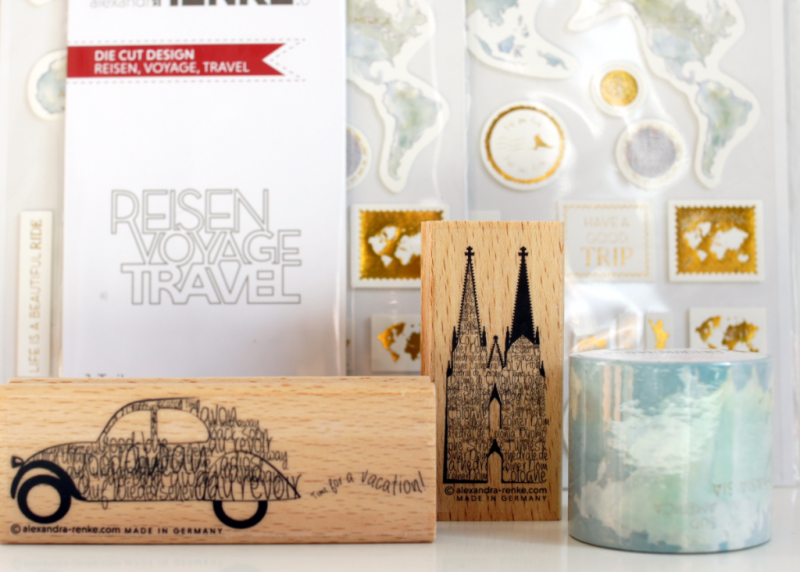 Alexandra Renke Themenwelt Reise Stempel und Embellishments