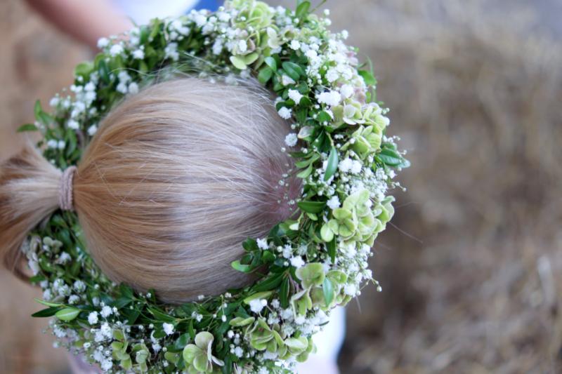 Junggesellinnen Abschied Blumenkranz Braut