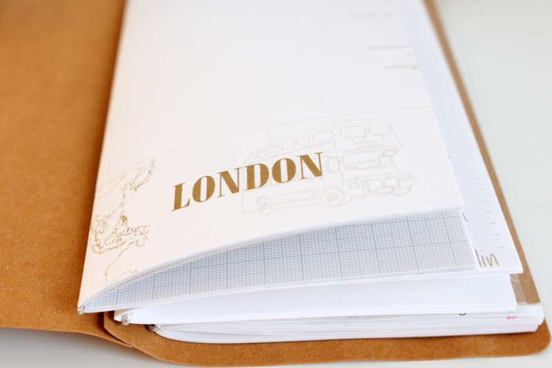 DIY Traveler's Notebook aus SnapPap mit Inlays Alexandra Renke Feinstpapier