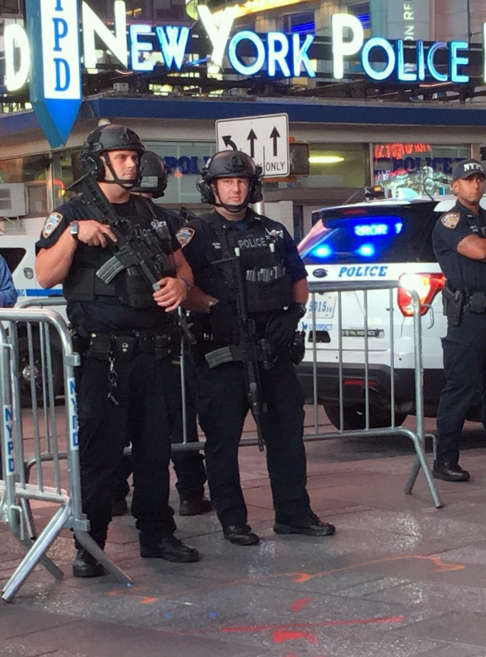 NYPD on Times Square in NYC