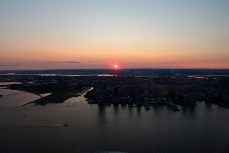 Sunset über New Jersey One World Observatory New York City