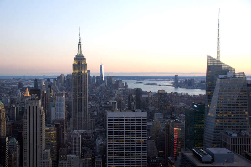 Blick auf Empire State Building vom Top of the Rock Observatory New York
