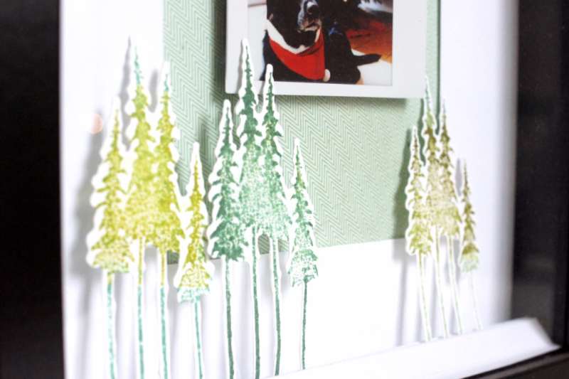 Weihnachtliche Home Deco Ikea Ribba Rahmen mit Fuji Instax Fot