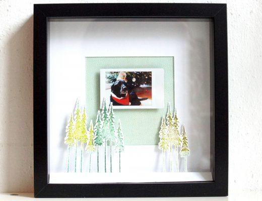 weihnachtliches DIY Ikea Ribba Rahmen mit Instax Foto