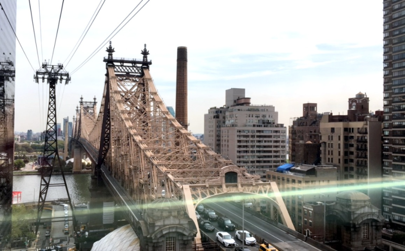 Roosevelt Island Tramway Queensboro Bridge New York City