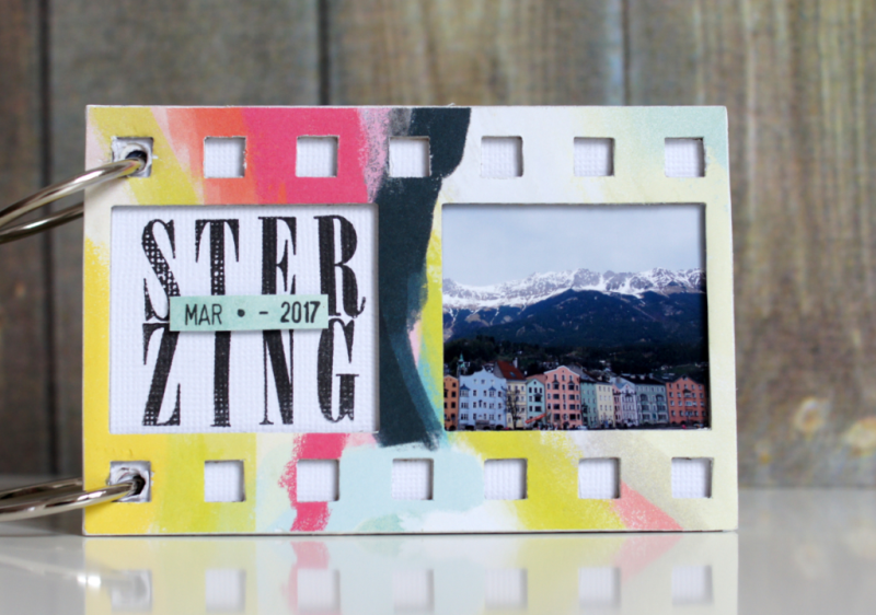 Scrapbooking Filmstrip Mini Album