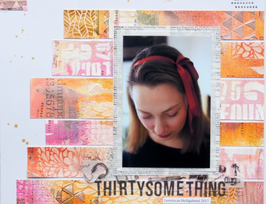 Mixed Media Scrapbooking Layout