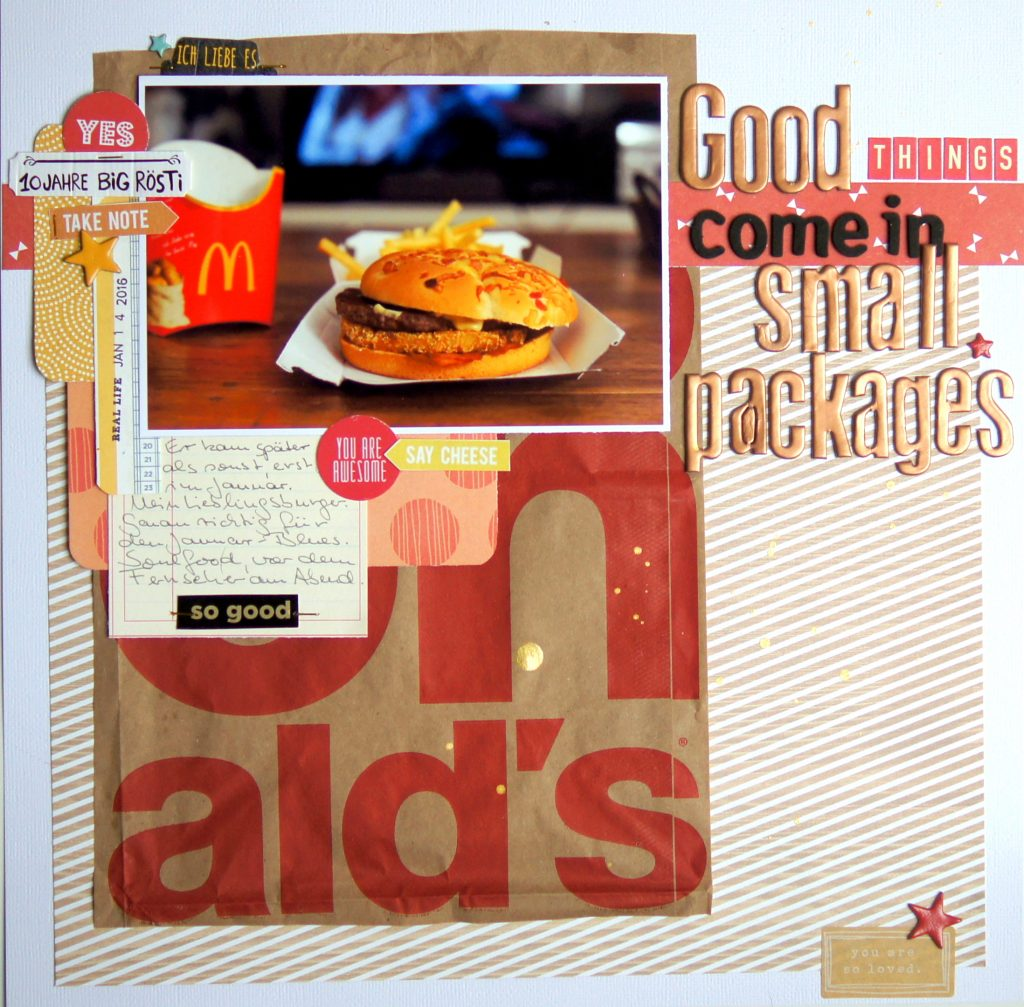 Scrapbooking Layout Big Rösti