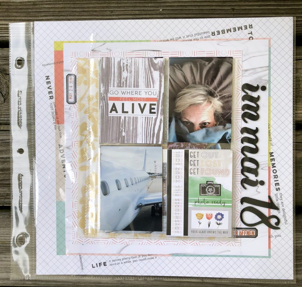Pocket Pages auf Scrapbooking Layout barb@home Mai 2018