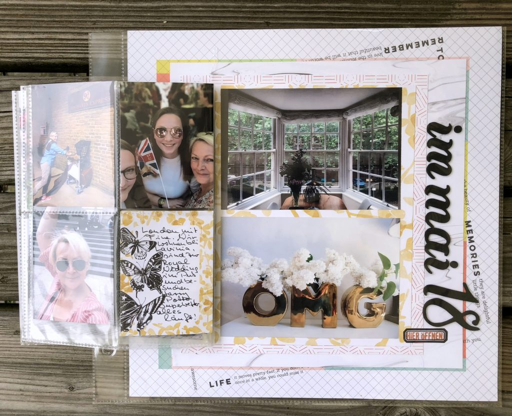 Pocket Pages auf Scrapbooking Layout Mai 2018