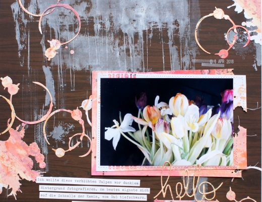 Scrapbooking Layout Hello Spring
