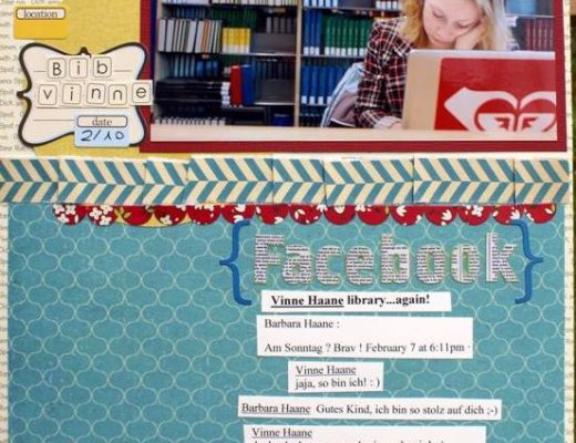 Scrapbooking Layout Facebook Textbeispiel