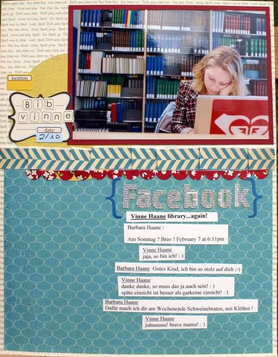 Scrapbooking-Text Layout Facebook Textbeispiel