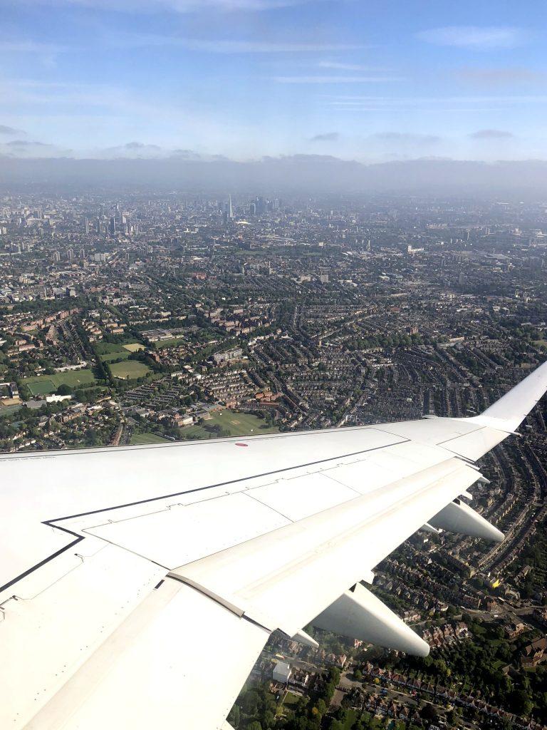 Anflug auf London City Airport