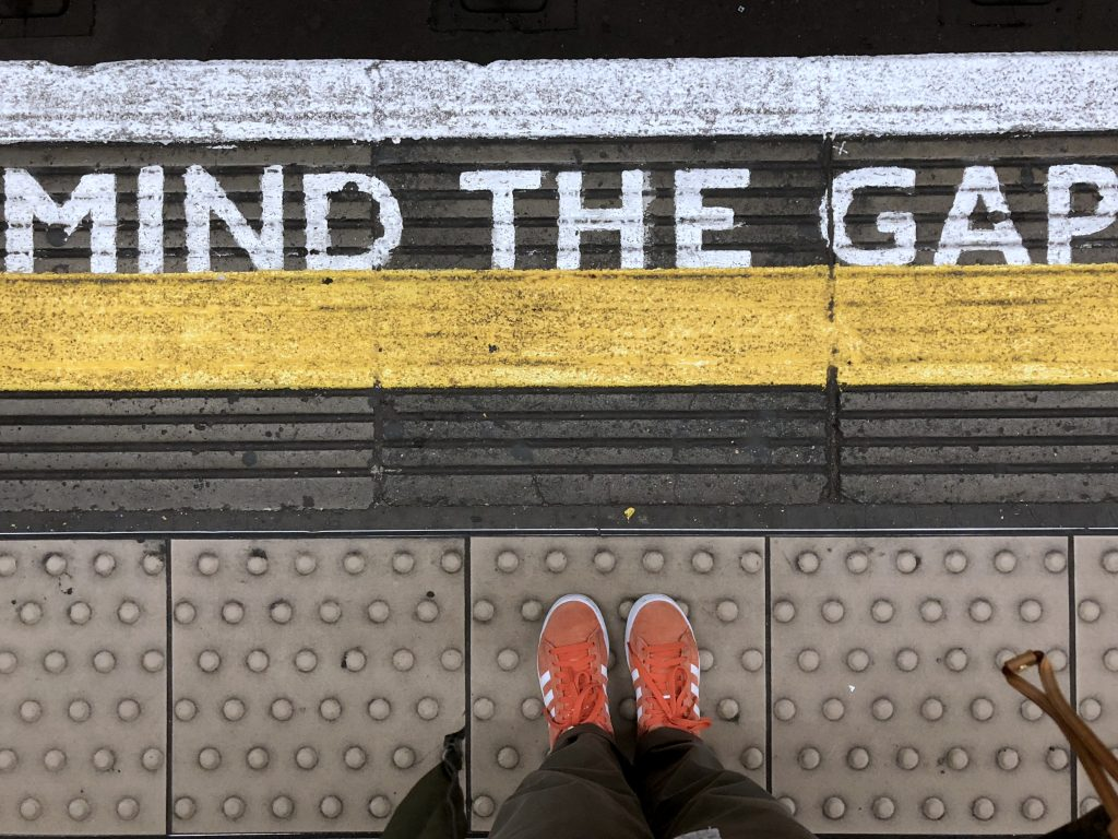 Tube sign Mind the gap London