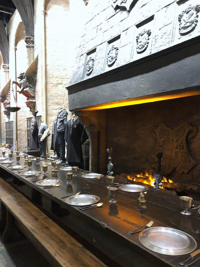 Harry Potter Studio Tour Die Große Halle in Hogwarts