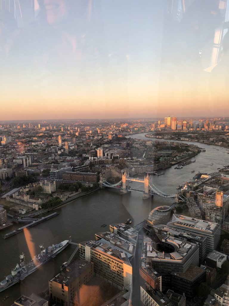 View from the Shard Tower Bridge