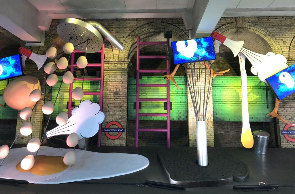 London Tube Station Gloucester Road Artwork