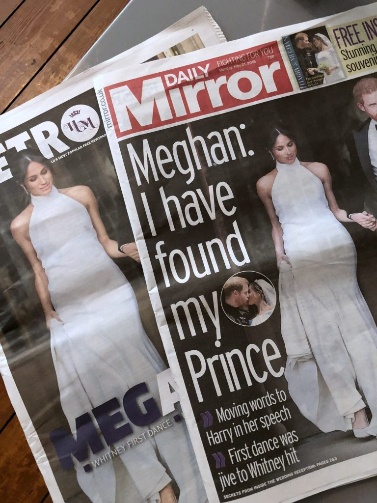 Harry and Meghan newspaper