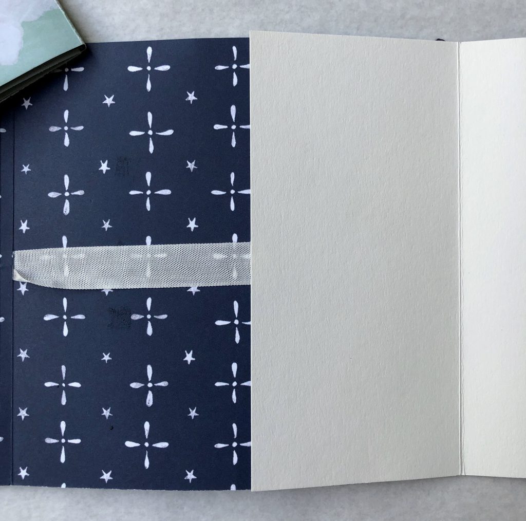 Innenseite Anleitung für ein schnelles und einfaches Mini Album mit 13 x 13 Fotos