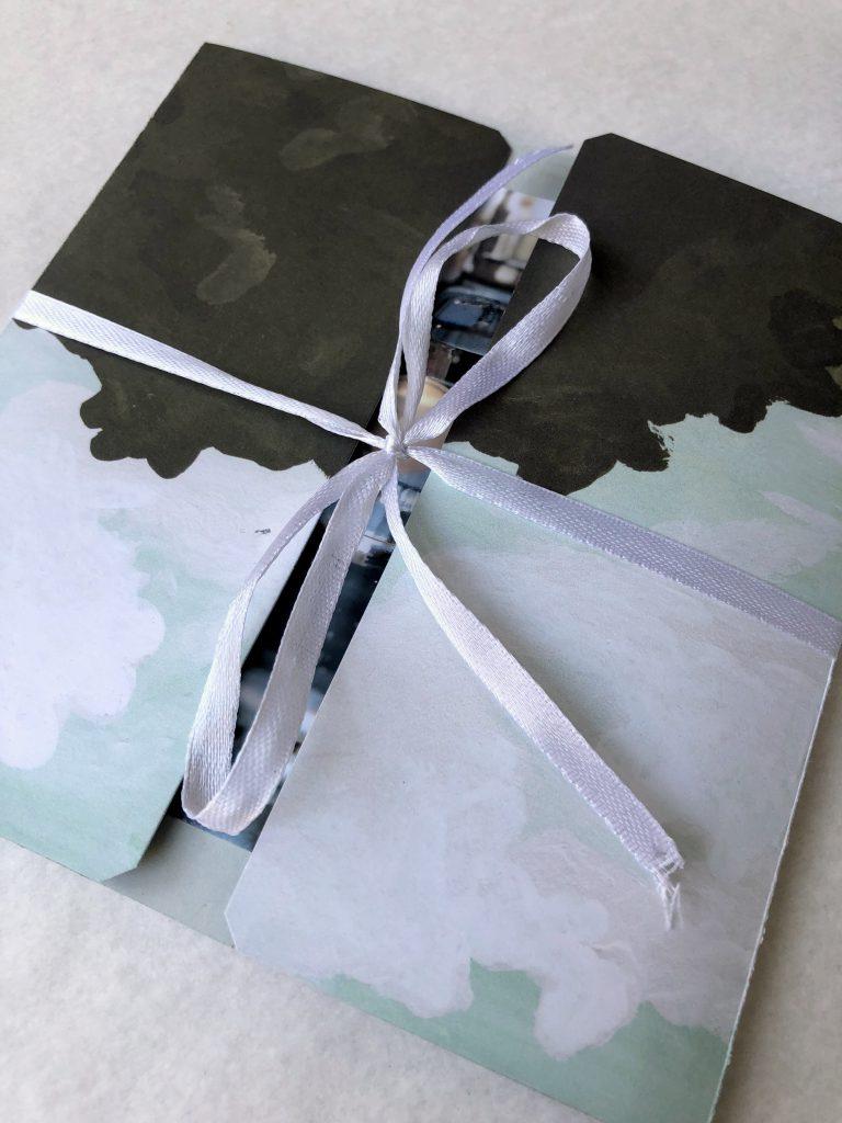 Scrapbooking Mini Album für quadratische Fotos 13x13 cm