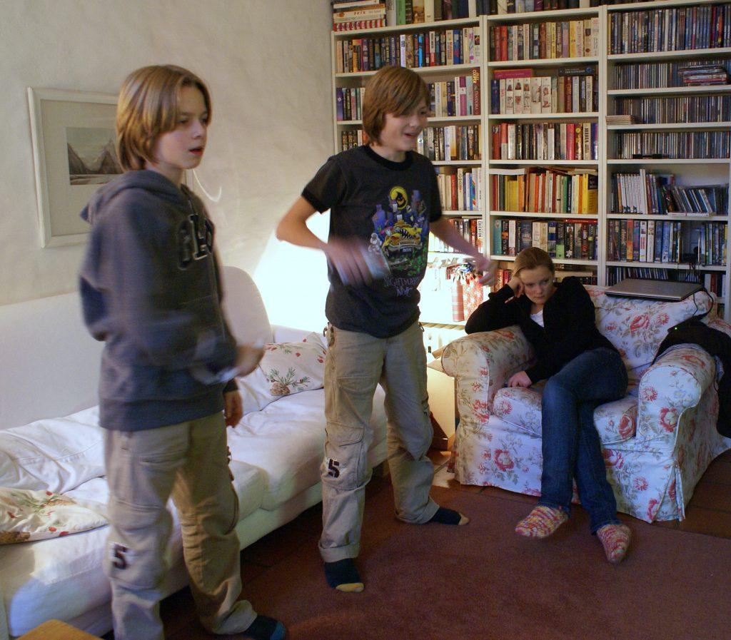 Weihnachten 2006 Benni und die Wii
