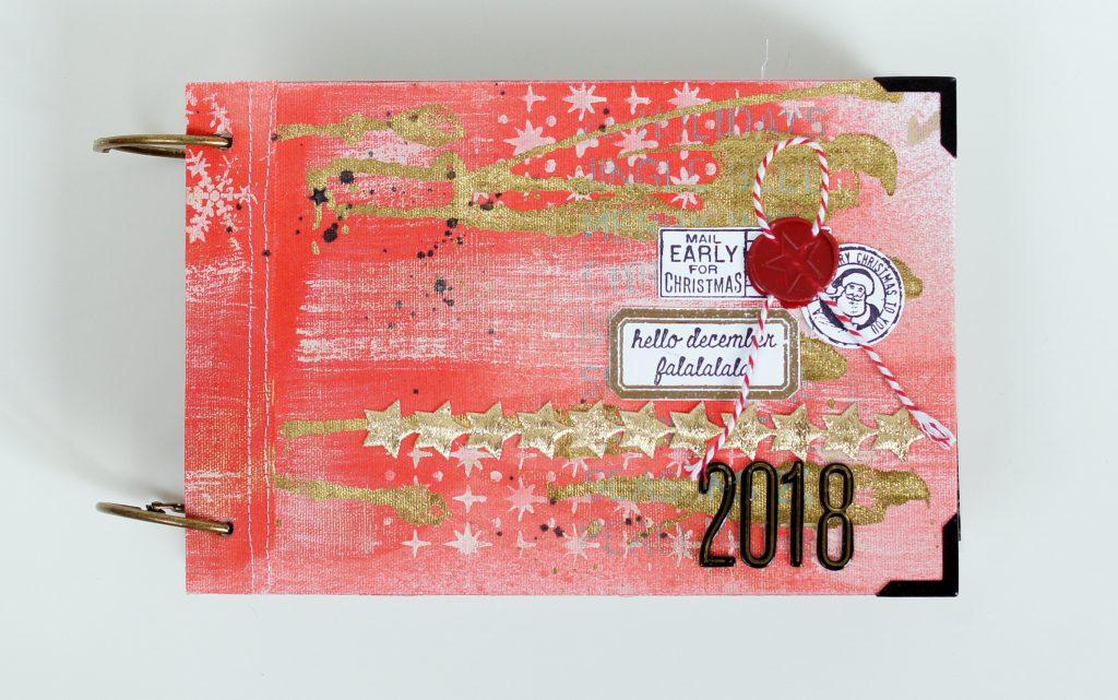 Dezembertagebuch 2018 Cover auf Leinen