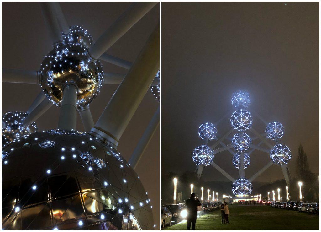 24 Stunden in Brüssel Atomium bei Nacht