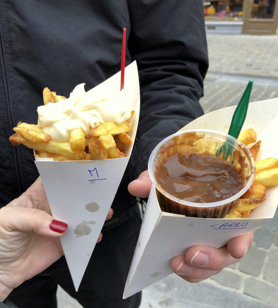 Fritten in Brüssel Maison Antoine