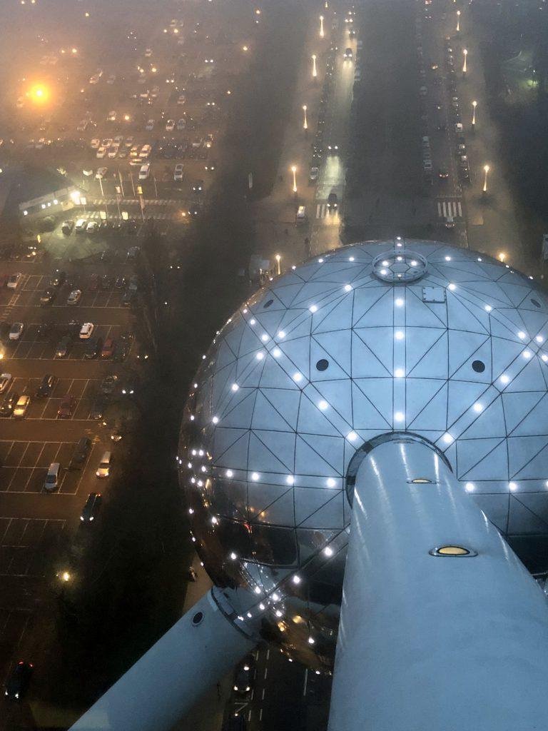 24 Stunden in Brüssel Atomium Ausblick