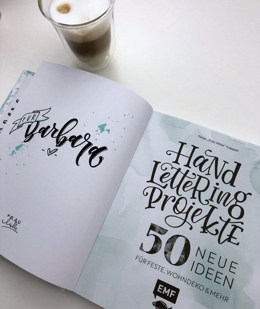 Buch Handlettering Projekte Frau Hölle