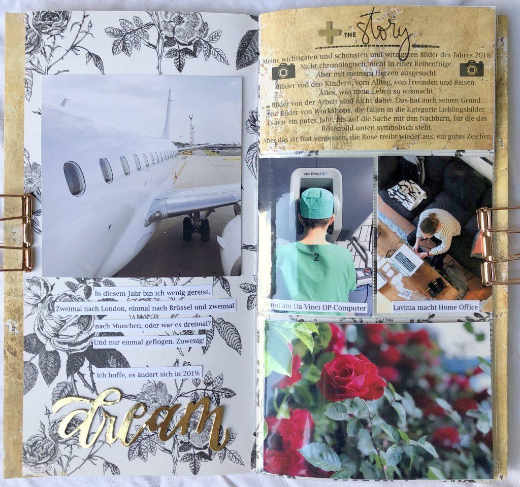 Scrapbooking Mini Album 6x12 aus Papieren und Fotohüllen