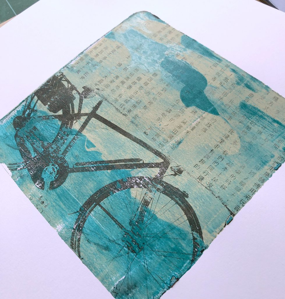 Gelpress Transfer Technik barb@home Scrapbooking Workshop