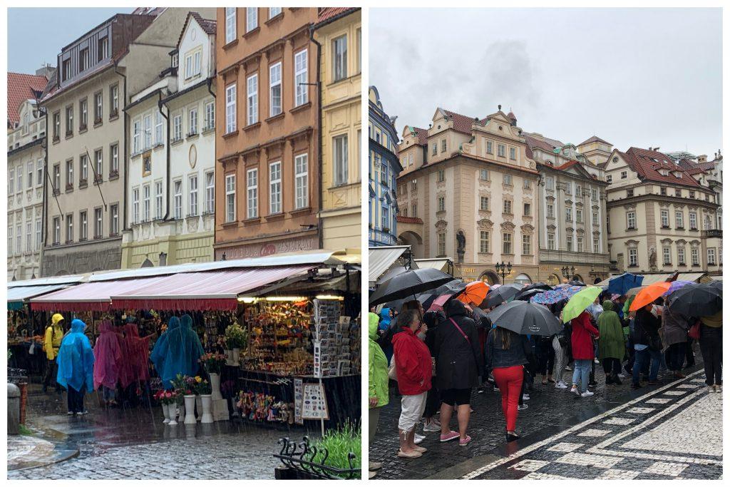 Prag im Regen