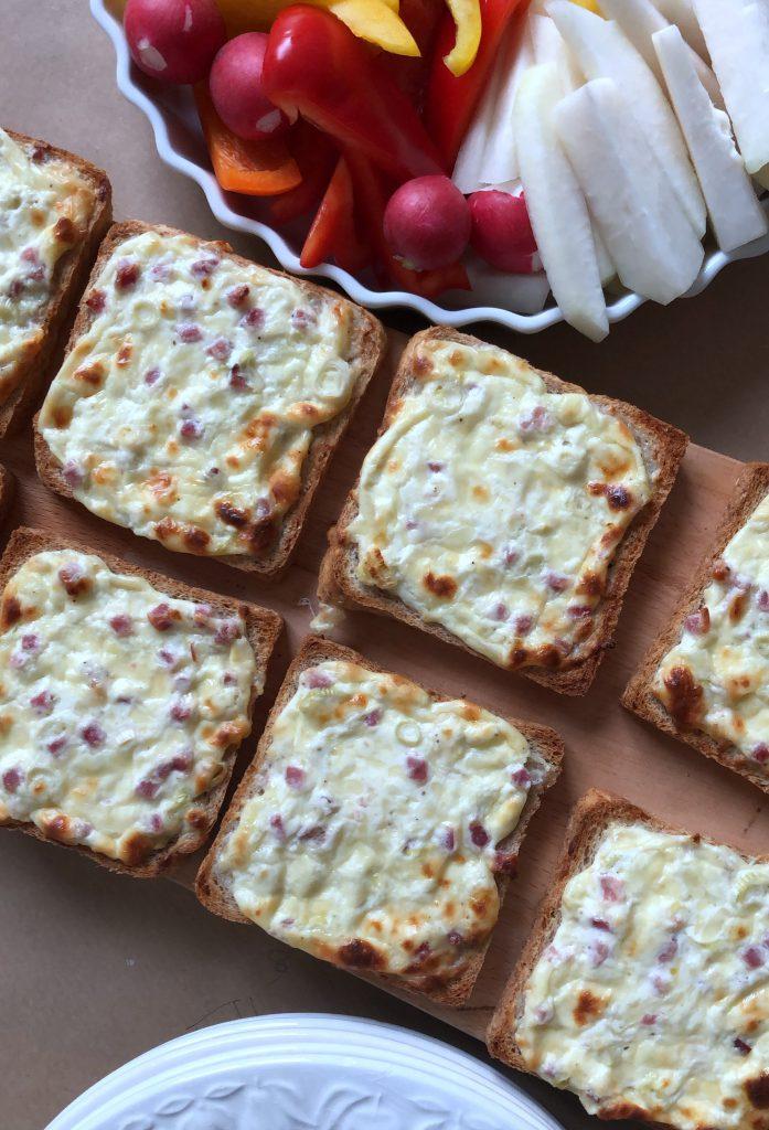 Flammkuchen Toast von was eigenes