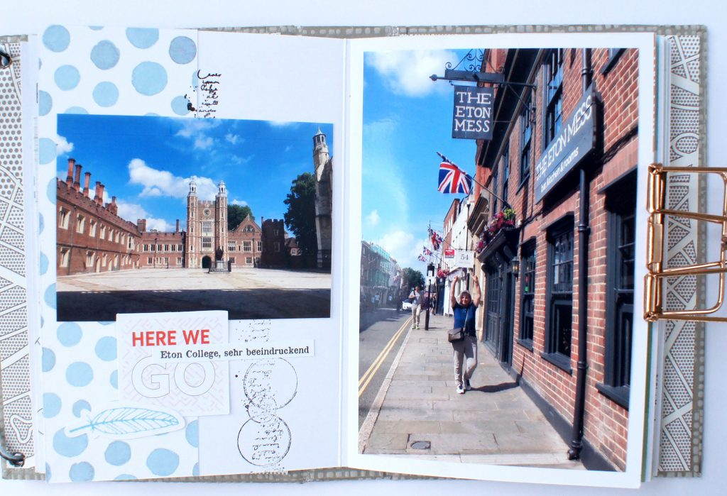 Scrapbooking Minialbum London Innenseiten