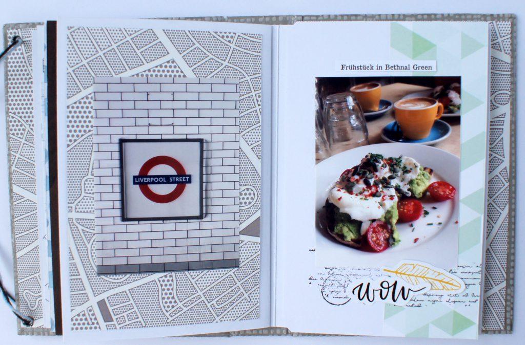 Scrapbook London selbermachen Innenseiten