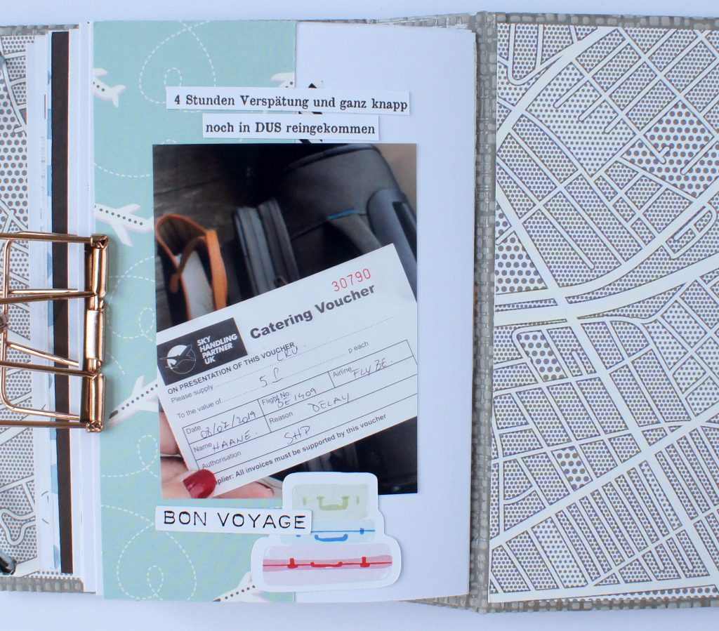 Scrapbooking Minibook London Innenseiten