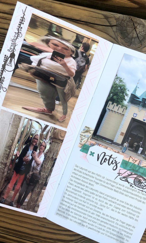 Travellers Notebook Scrapbooking Reisealbum Prag