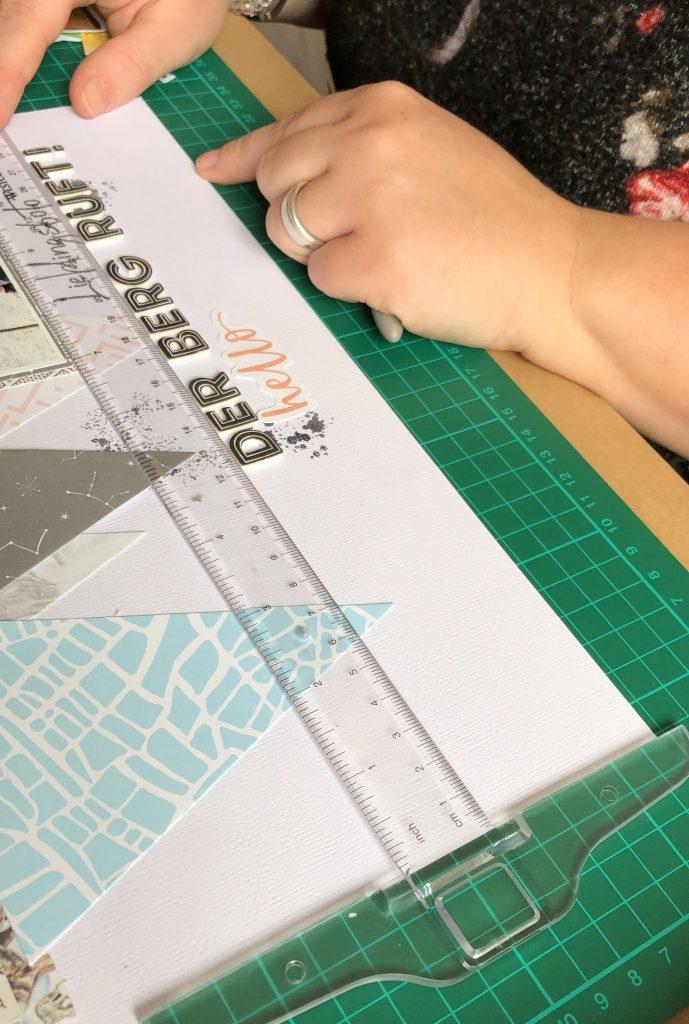 Scrap-Impulse Workshop Buchstaben gerade kleben