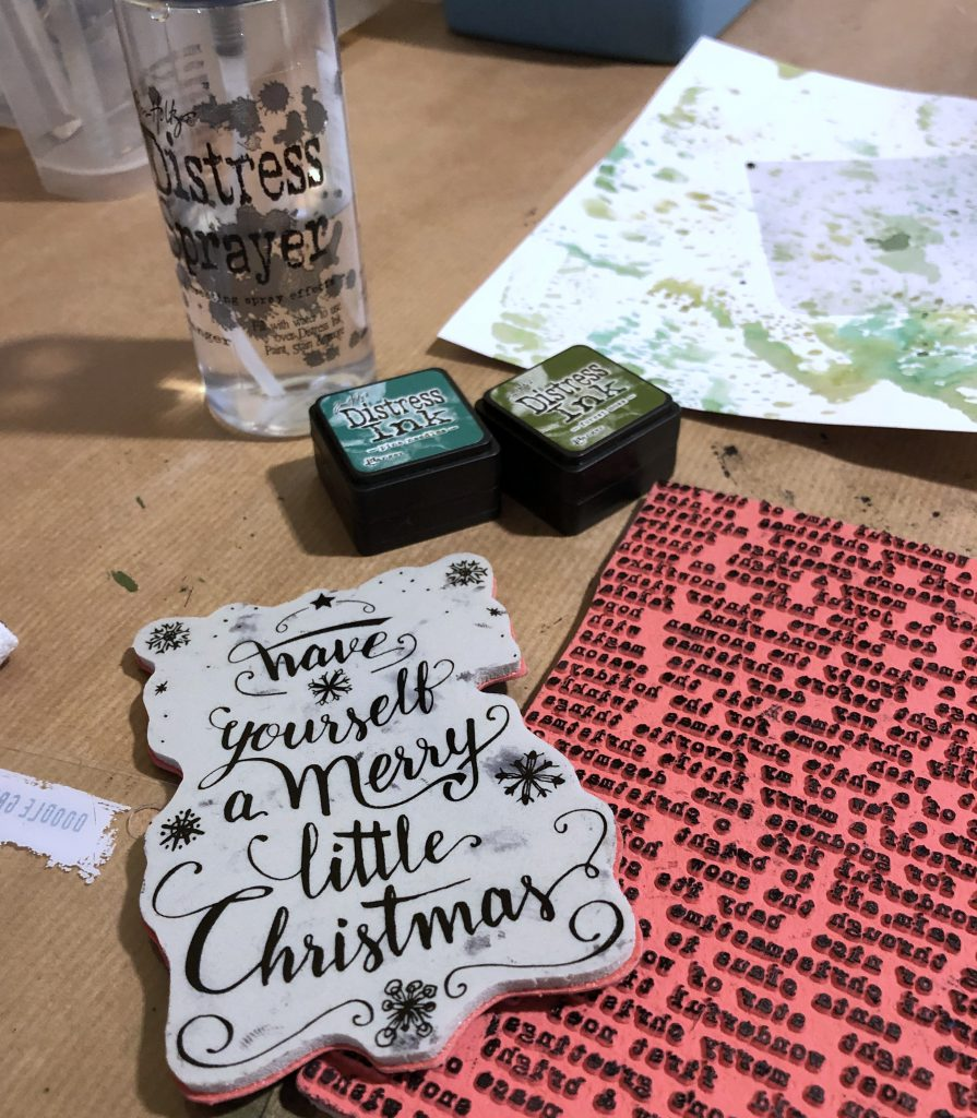 Scrap-Impulse Adventswerkstatt 2019 Stempel Tim Holtz