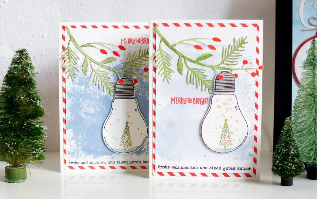 Weihnachtskarten Concord&9th Glühlampe