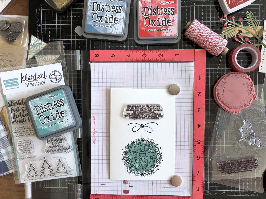 Kartenbasteln mit Stempeln Dani Peuss Ornament