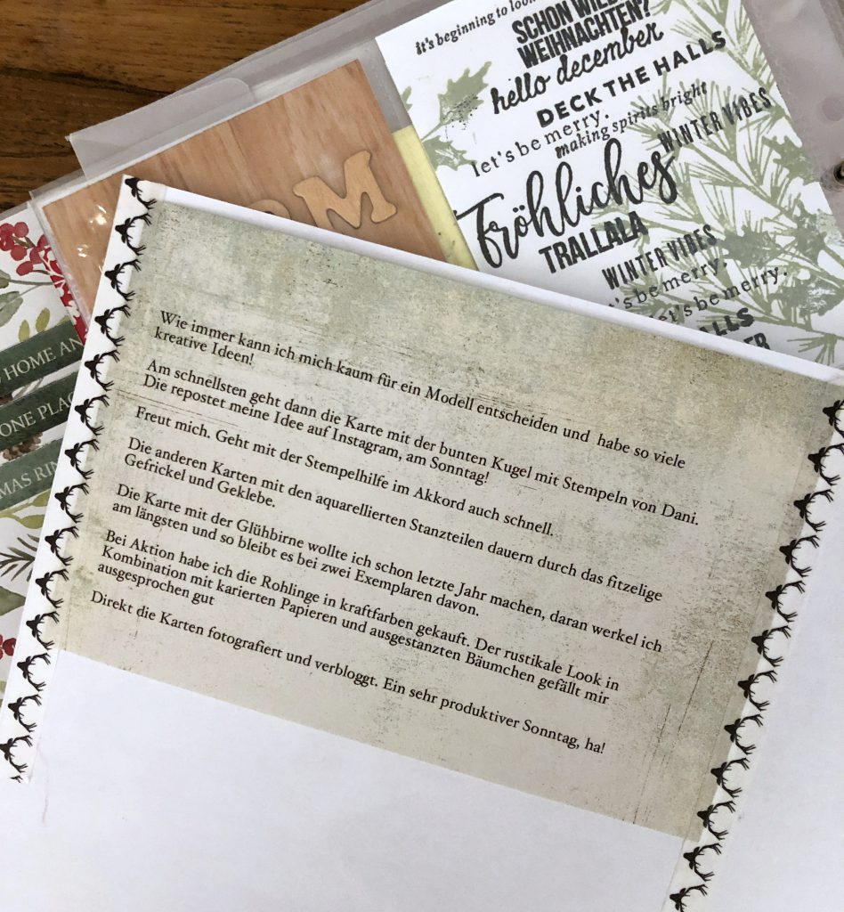 Beispiel Textfeld auf gemustertes Papier drucken